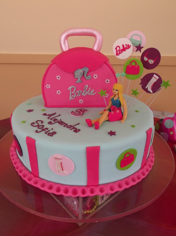 13 Barbie Themed Birthday Party Cakes Photo Barbie Themed Birthday