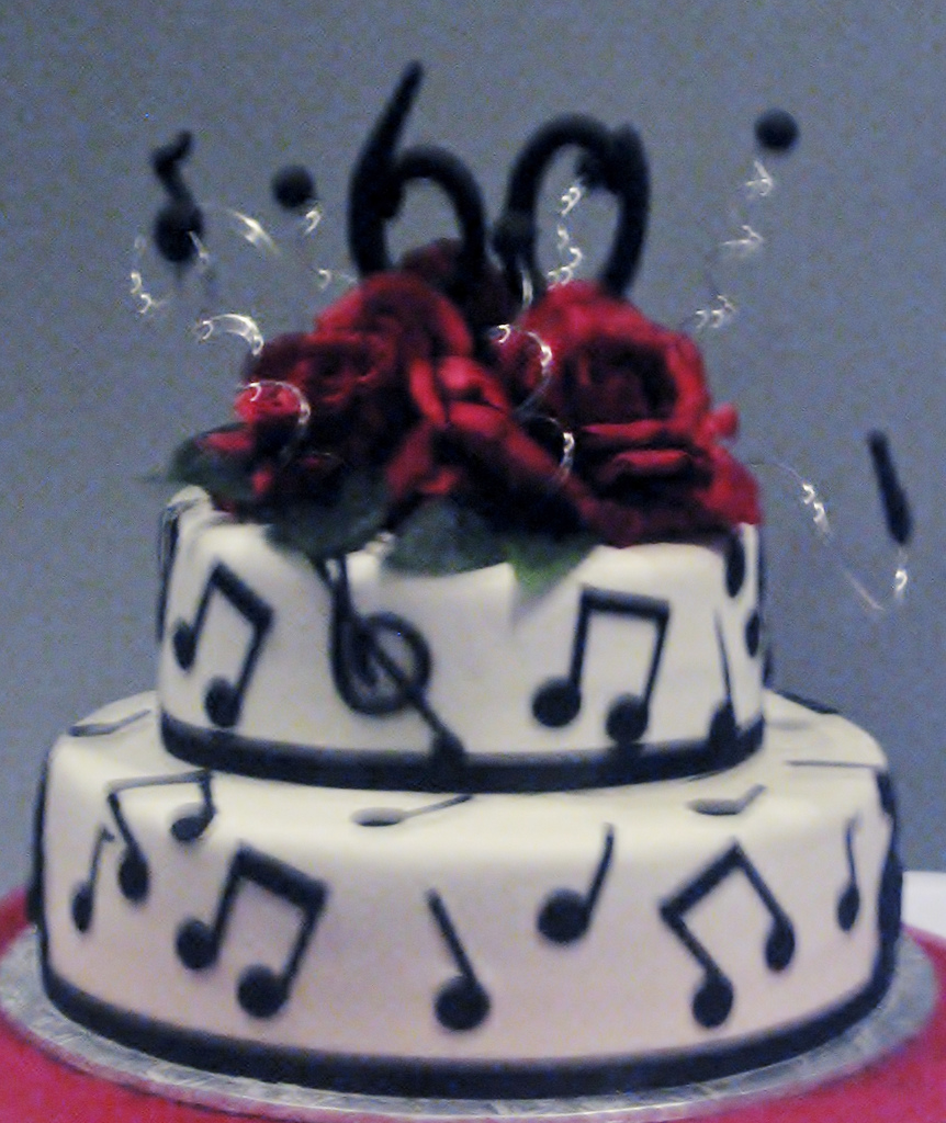 Birthday Cake With Music Notes