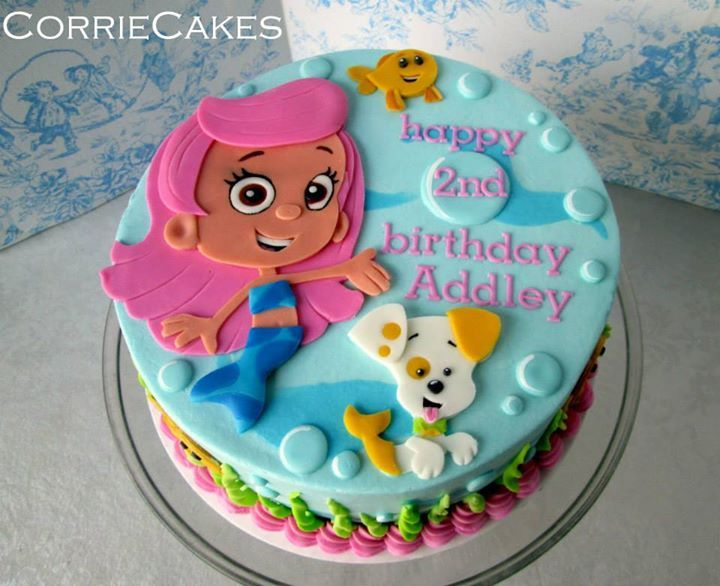 Incredible 7 Bubble Guppies Birthday Party Cakes Photo Bubble Guppies Birthday Cards Printable Trancafe Filternl