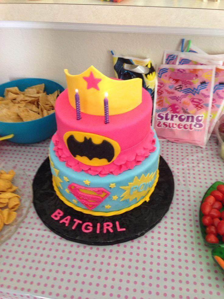 Awesome 10 Easy Superhero Cakes For Girls Photo Batgirl Birthday Cake Funny Birthday Cards Online Kookostrdamsfinfo