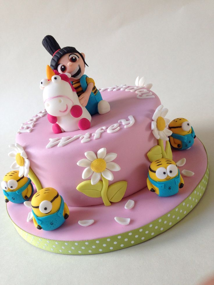 11 Despicable Me 2 Agnes Birthday Cakes On It Photo Baking