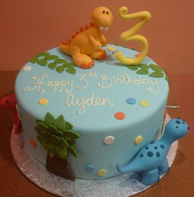 Dinosaurs Birthday Cakes 3 Years Old