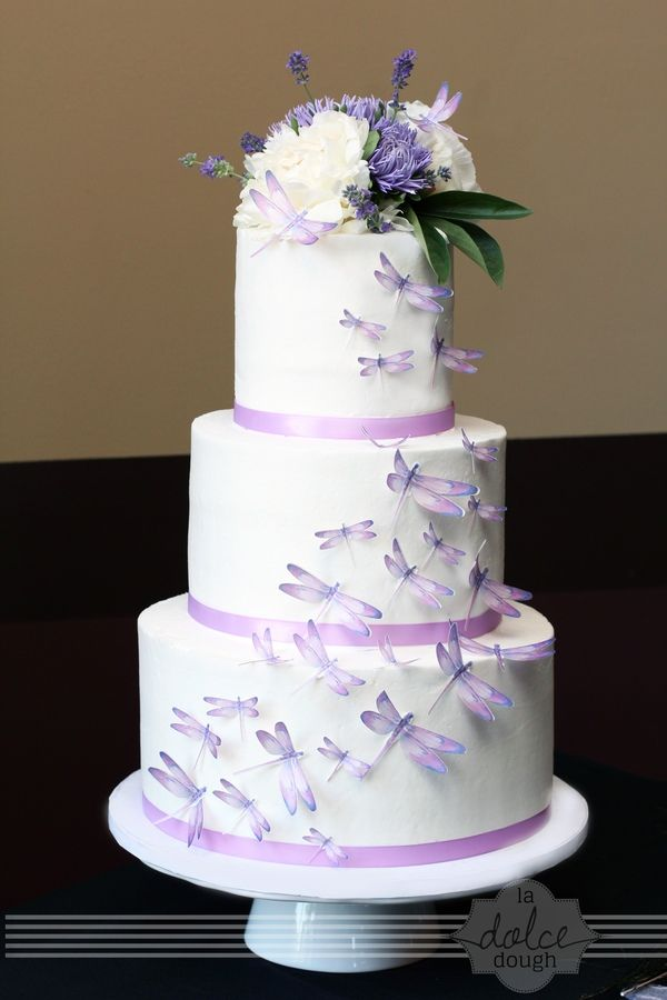 7 Wedding Cakes With Dragonflies Photo Dragonfly Wedding Cake
