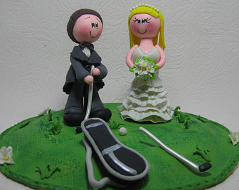 9 Funny Golf Wedding Cakes Photo - Golf Wedding Cake Topper, Funny ...
