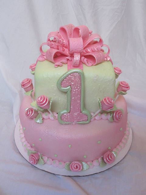 6 Girls 1st Birthday Party Cakes Photo Pink 1st Birthday Cake