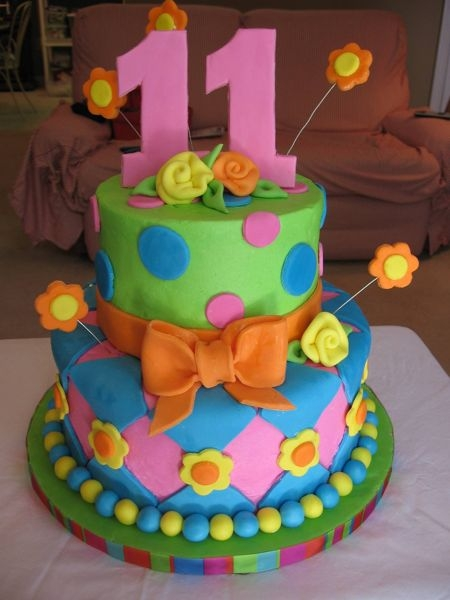 Happy 11th Birthday Girl Cake