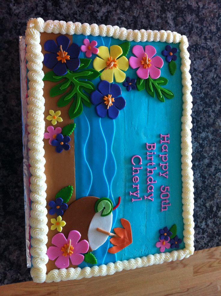 Luau Birthday Sheet Cake: Hawaiian Birthday Sheet Cakes At Alzheimers-prions.com