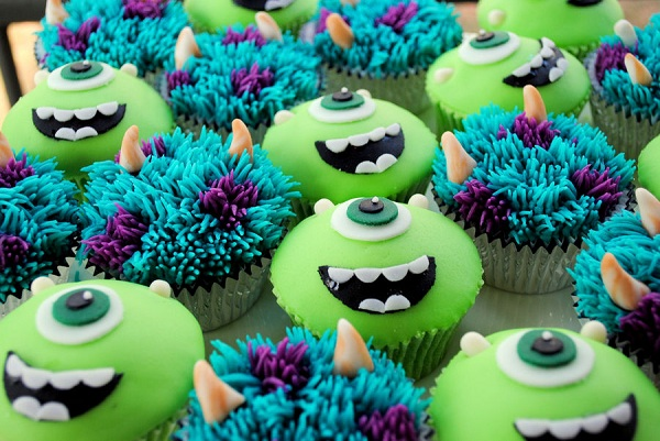 Swell 10 Monster University Birthday Cupcakes Photo Monsters Inc Personalised Birthday Cards Epsylily Jamesorg