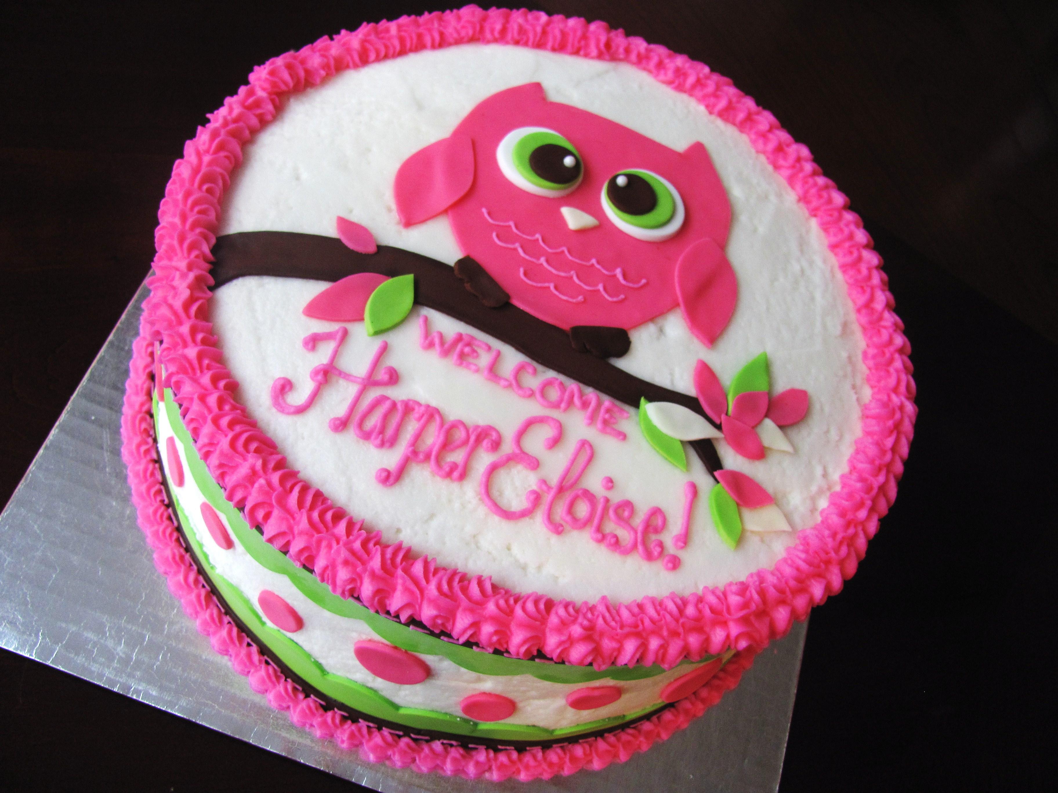 10 Easy Owl Birthday Cakes For Girls Photo Owl Baby Shower Cake