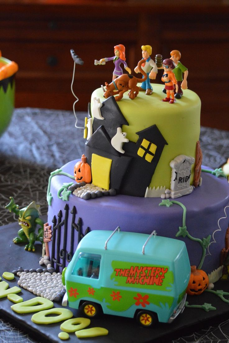 Amazing 10 Halloween Scooby Doo Birthday Cakes Photo Scooby Doo Funny Birthday Cards Online Alyptdamsfinfo