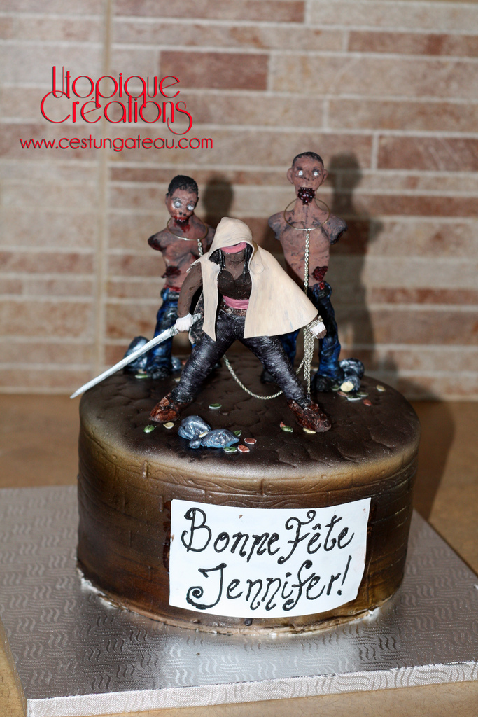 Brilliant 7 Michonne Of Walking Dead Birthday Cakes Photo Walking Dead Funny Birthday Cards Online Alyptdamsfinfo