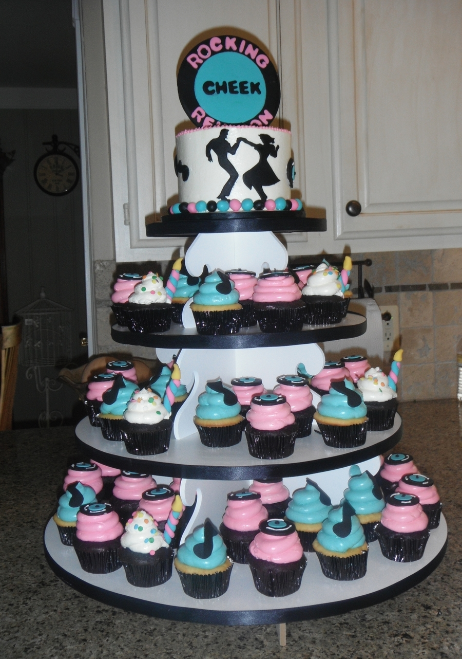 Theme Cupcakes Photo Party Jpg 900x1282 50s Themed Cake Toppers