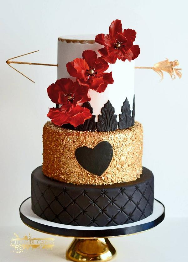 Red Black And Gold Wedding Cakes - 5000+ Simple Wedding Cakes