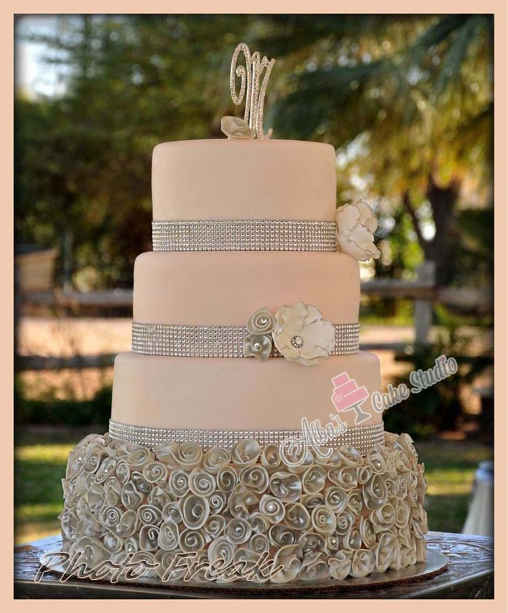 9 Blush Gray And Black Wedding Cakes Photo Blush Pink And Grey