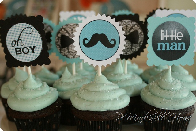 11 Little Man Baby Shower Cupcakes Photo Boy Little Man Mustache