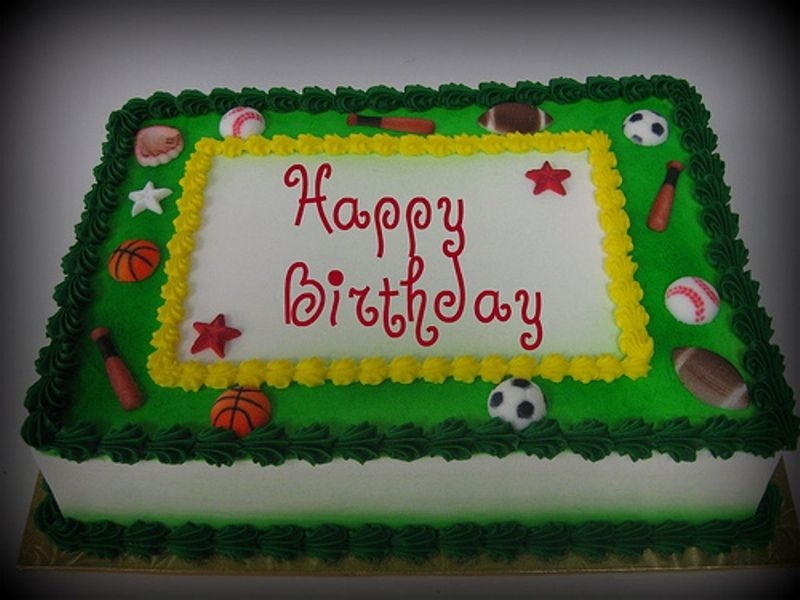 Remarkable 10 All Sports Birthday Cakes Boys Photo Sports Birthday Cake Funny Birthday Cards Online Bapapcheapnameinfo