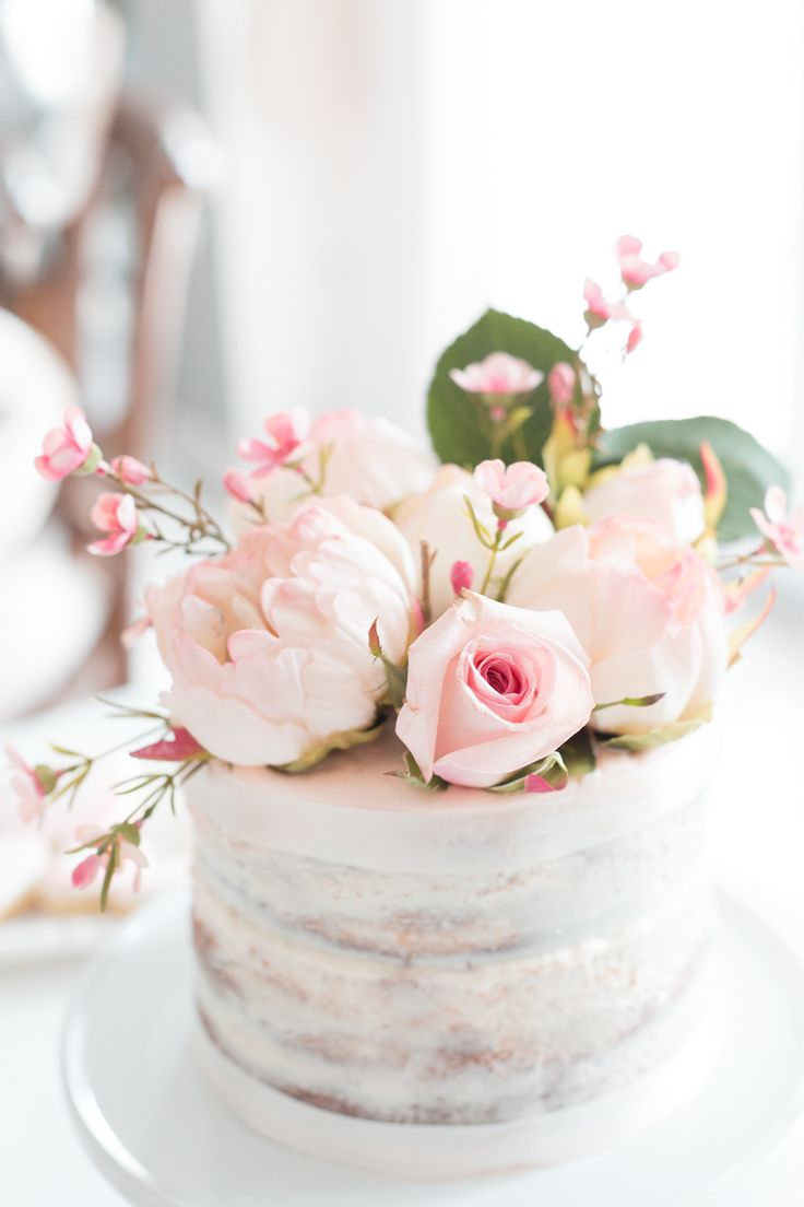 12 Cakes With Flowers On Pinterest Photo Birthday Cake With