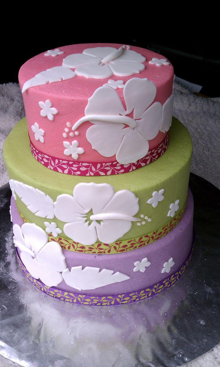 11 Easy Hawaiian Themed Wedding Cakes Photo Hawaiian Wedding Cake