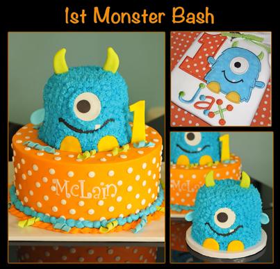 Fine 12 Monster Bash Birthday Cakes Photo Monsters 1St Birthday Cakes Funny Birthday Cards Online Inifofree Goldxyz