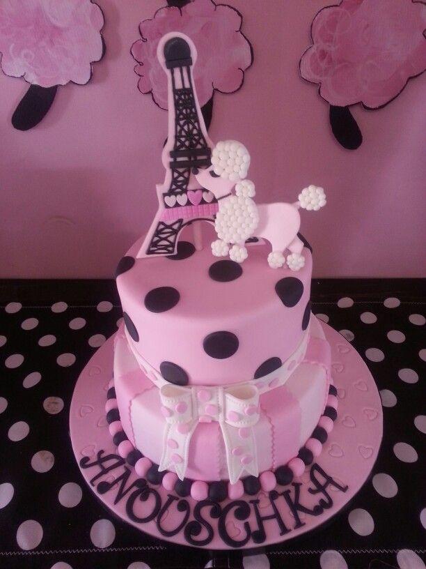 Awesome 8 Poodle In Paris Cakes Photo Paris Poodle Birthday Cake Paris Funny Birthday Cards Online Aeocydamsfinfo
