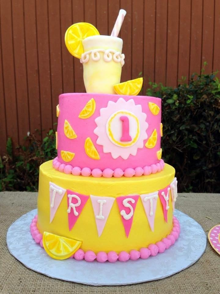 8 Lemonade Birthday Cupcakes Photo Lemonade Birthday Cake Pink