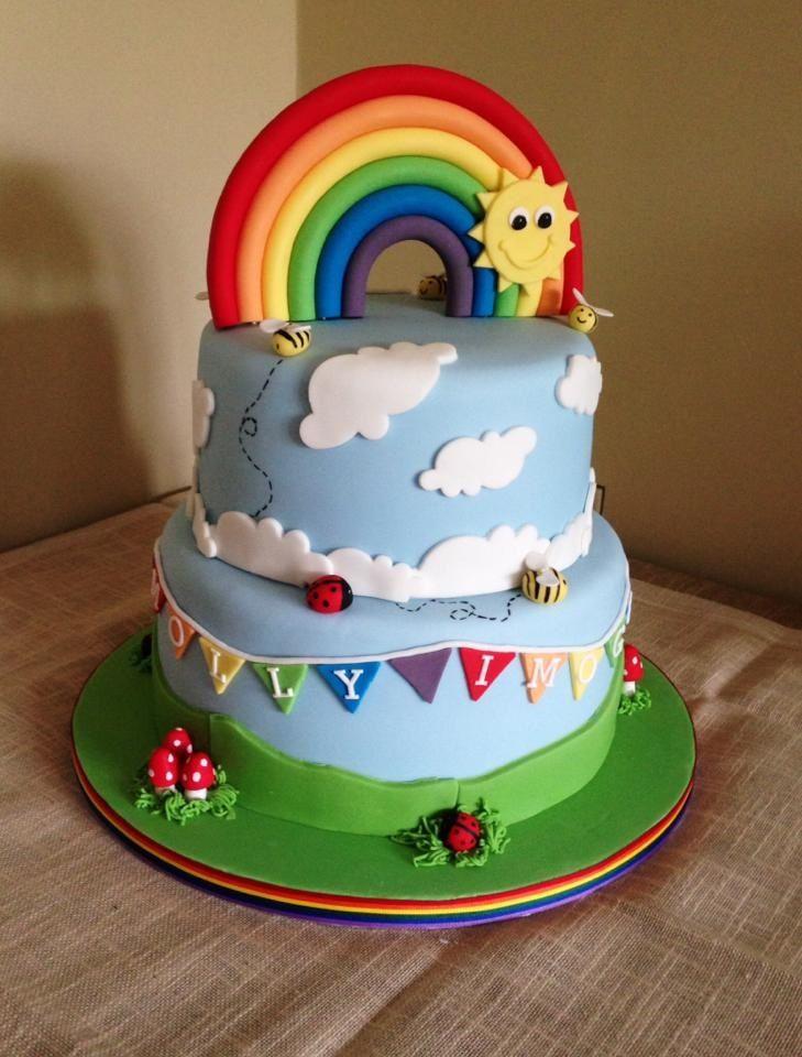 9 Rainbow Shower Themed Cakes Photo Rainbow Baby Shower Cake