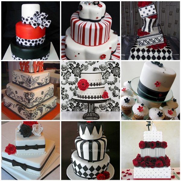 9 Red White Themed Wedding Cakes Photo Red White Black Wedding