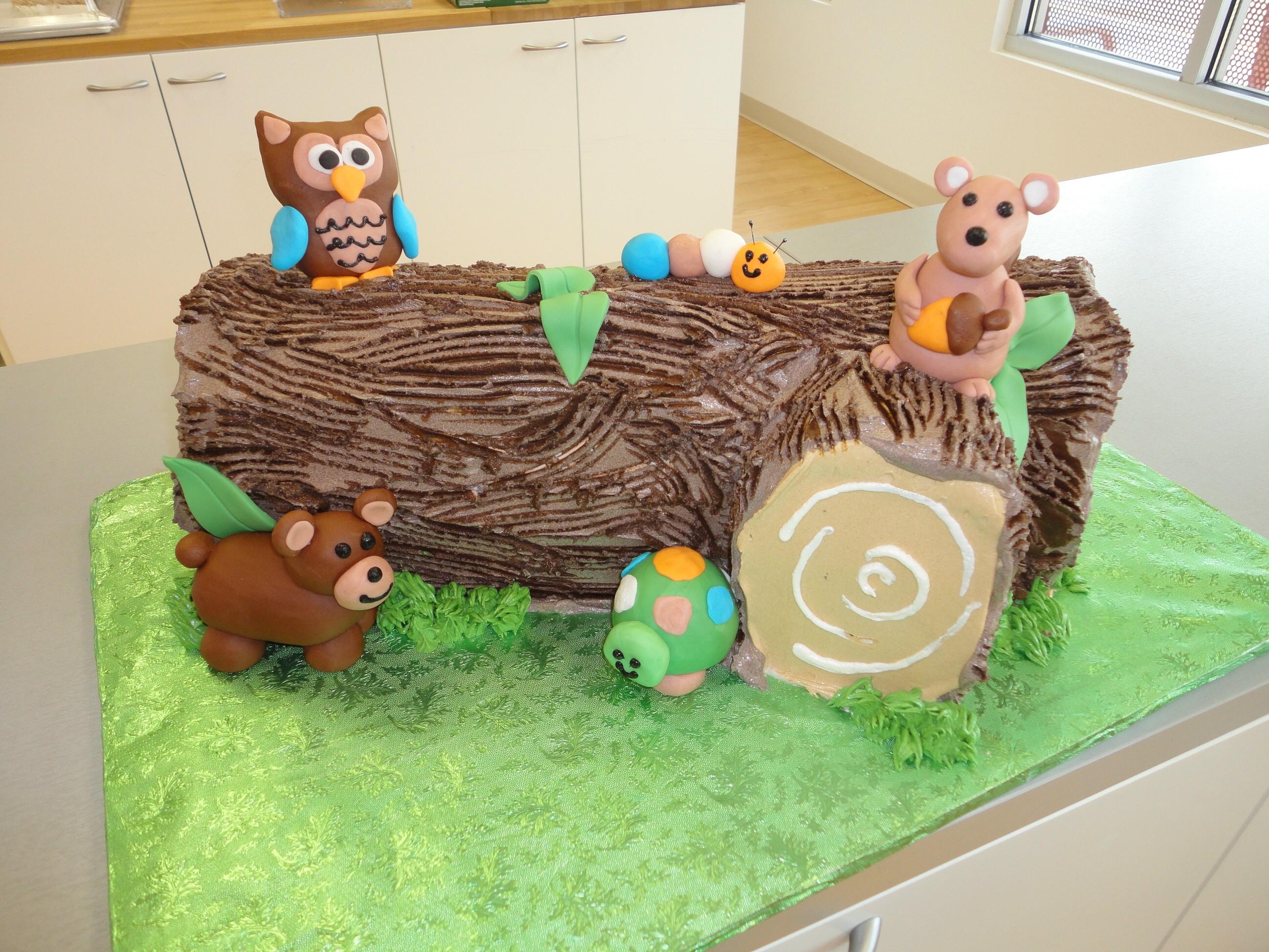 7 Woodland Themed Sheet Cakes Photo 1st Birthday Cake Woodland