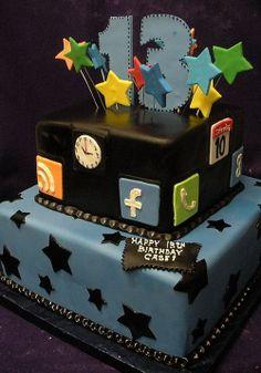 Sensational 13 Party 13Th Birthday Cakes For Boys Photo 13Th Birthday Party Funny Birthday Cards Online Kookostrdamsfinfo