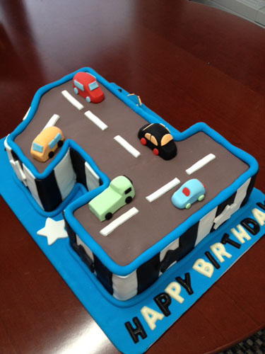 Fabulous 7 First Birthday Cakes With Cars Photo 1St Birthday Car Cake Funny Birthday Cards Online Hendilapandamsfinfo