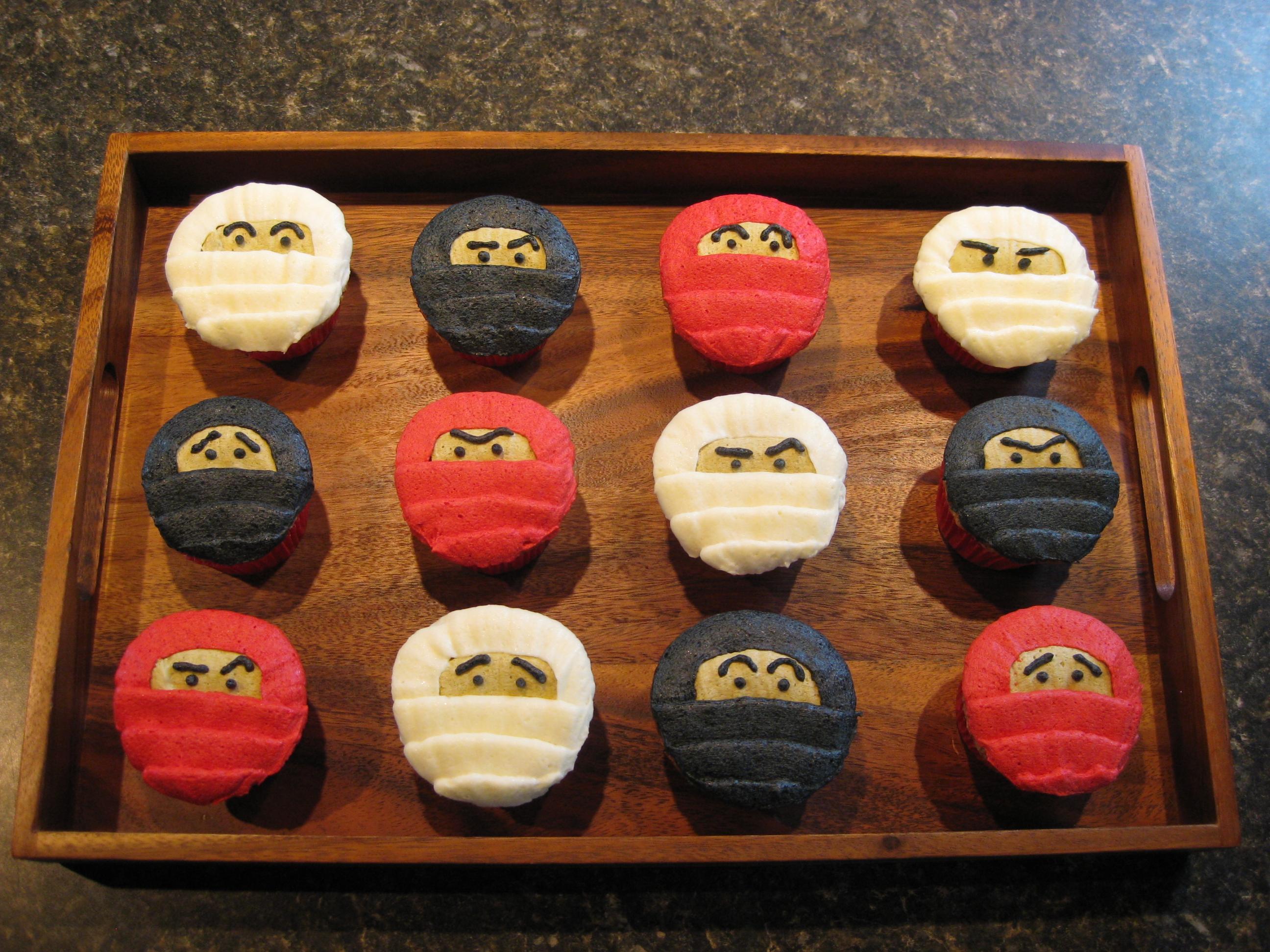 11 Ninja Cupcakes Decorating Photo Ninja Birthday Party Cupcakes