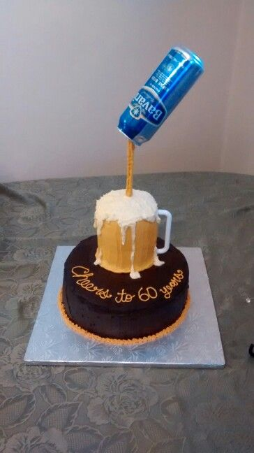 13 For Dad Beer Birthday Cake Themed Cakes Photo