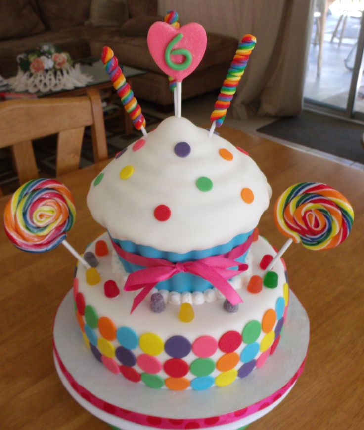 10 Cupcake Themed Birthday Party Cakes Photo Cupcake Themed