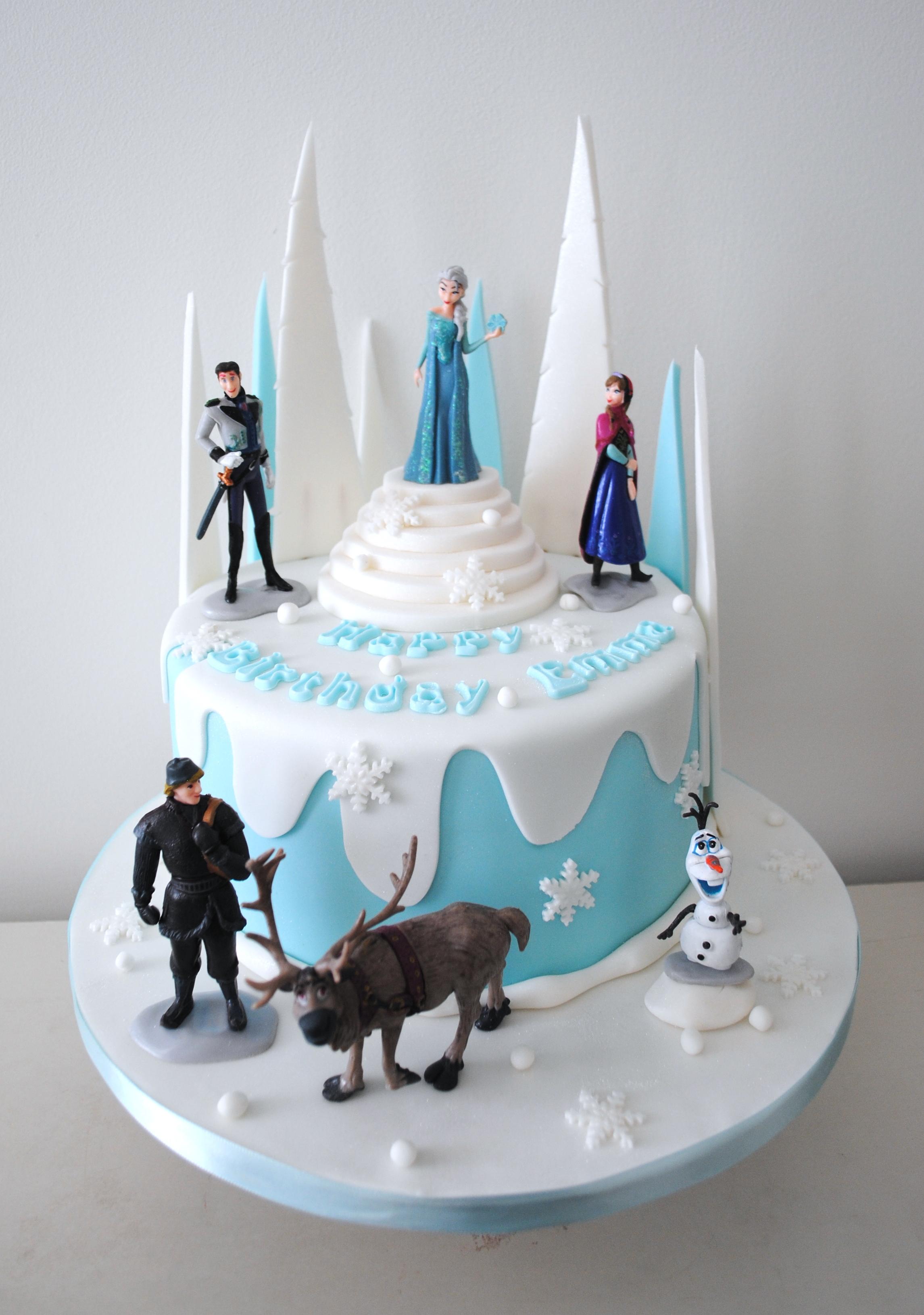 Wondrous 13 Disneys Frozen Birthday Cakes Photo Frozen Birthday Cake Funny Birthday Cards Online Fluifree Goldxyz