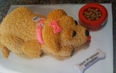 Dog Shaped Birthday Cakes