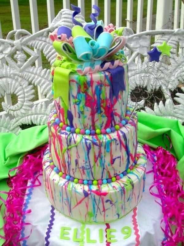 Remarkable 10 Splatter Painted Zebra Cakes Photo Paint Splatter Birthday Personalised Birthday Cards Sponlily Jamesorg
