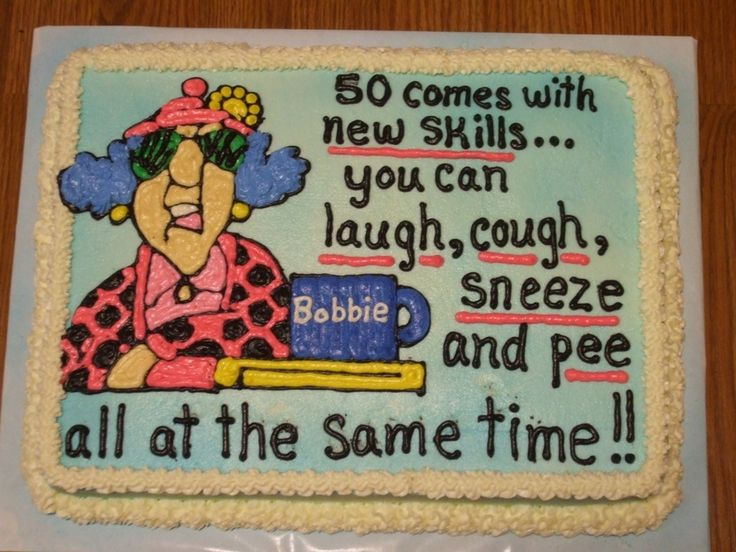 Happy 50th Birthday Cake Sayings