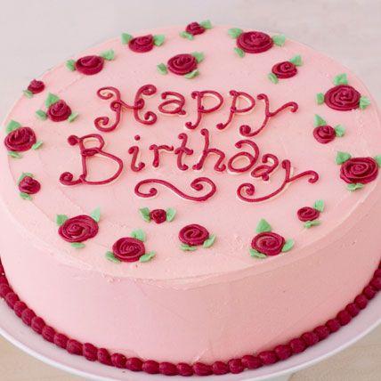 Pleasant 12 Pink Birthday Cakes Name Photo Happy Birthday Rose Cake With Personalised Birthday Cards Paralily Jamesorg