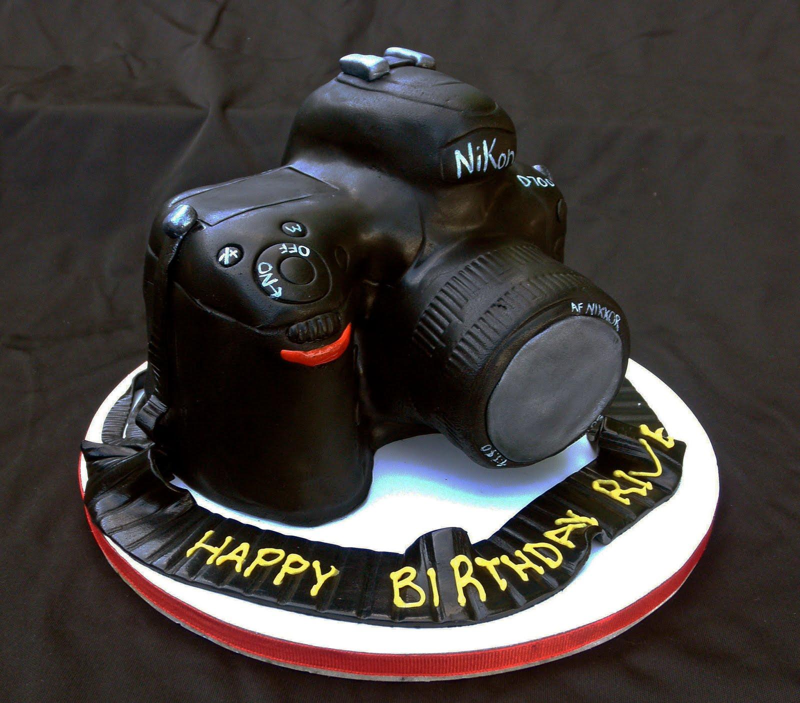 Groovy 10 Camera Cakes Design Photo Happy Birthday Camera Cake Camera Personalised Birthday Cards Sponlily Jamesorg