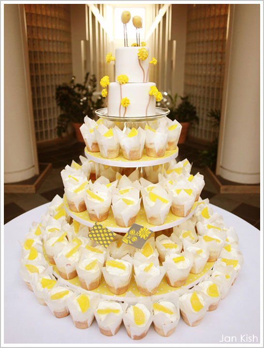 11 Yellow Cupcake Wedding Cakes Photo - Images of Yellow Wedding ...