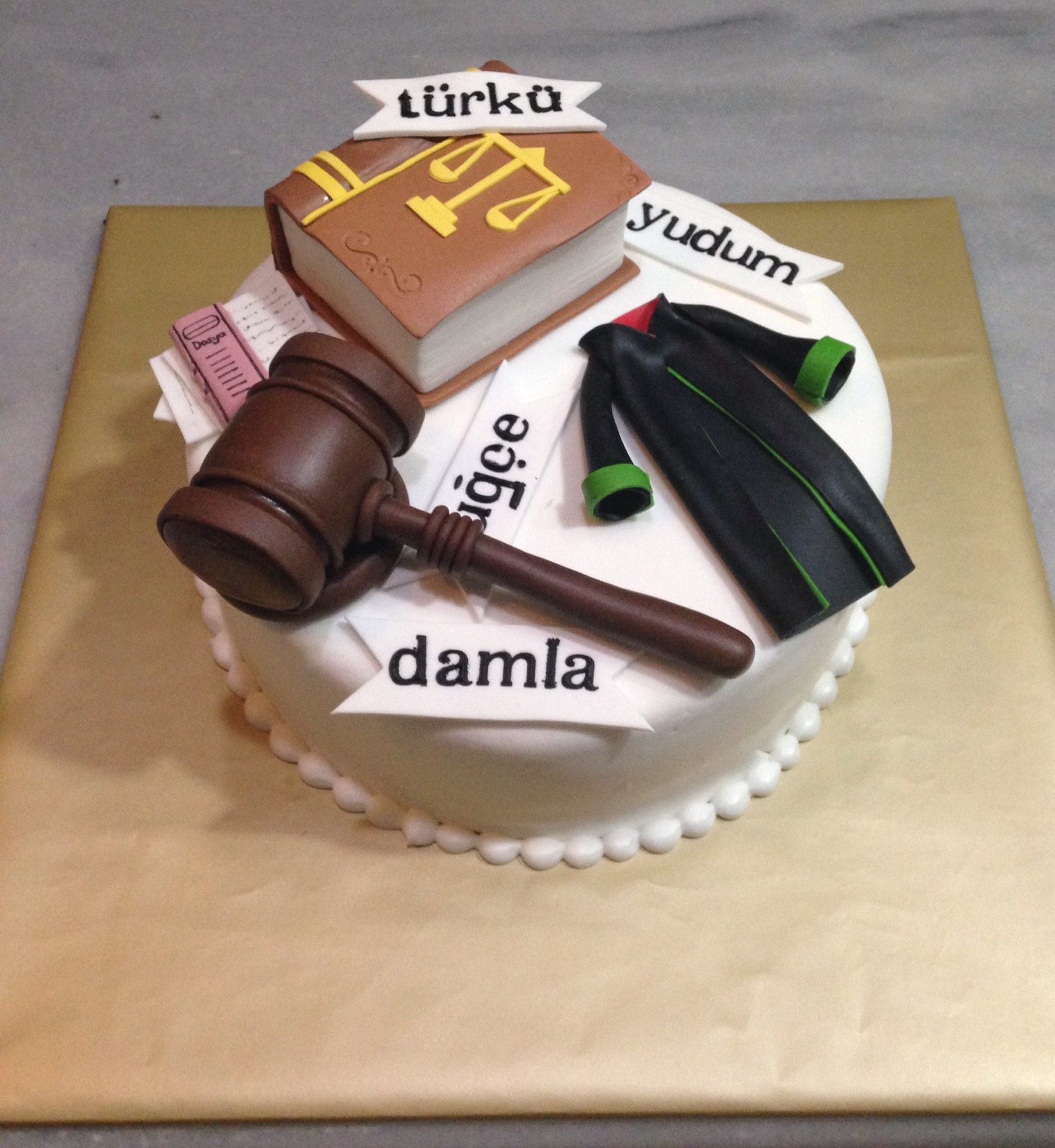 Lawyer Themed Birthday Cakes