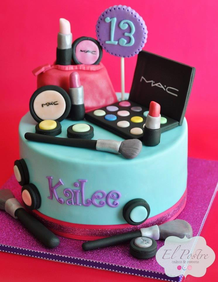 9 13th Birthday Cakes With Makeup Photo