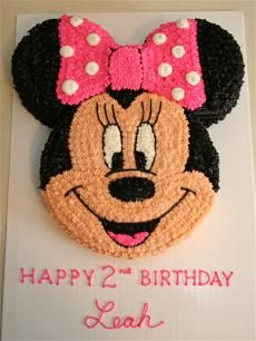 7 Piped Cakes Minnie Mouse Photo Minnie Mouse Buttercream Cake