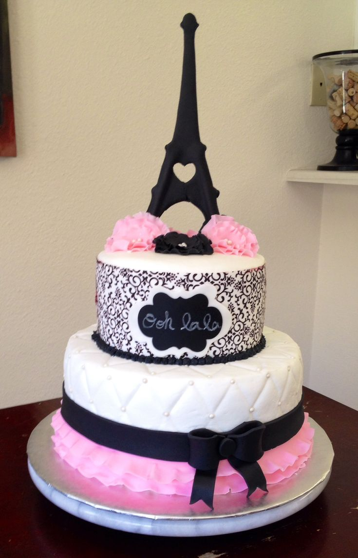 11 Paris Cakes For Girls Photo Paris Themed Baby Shower Cake