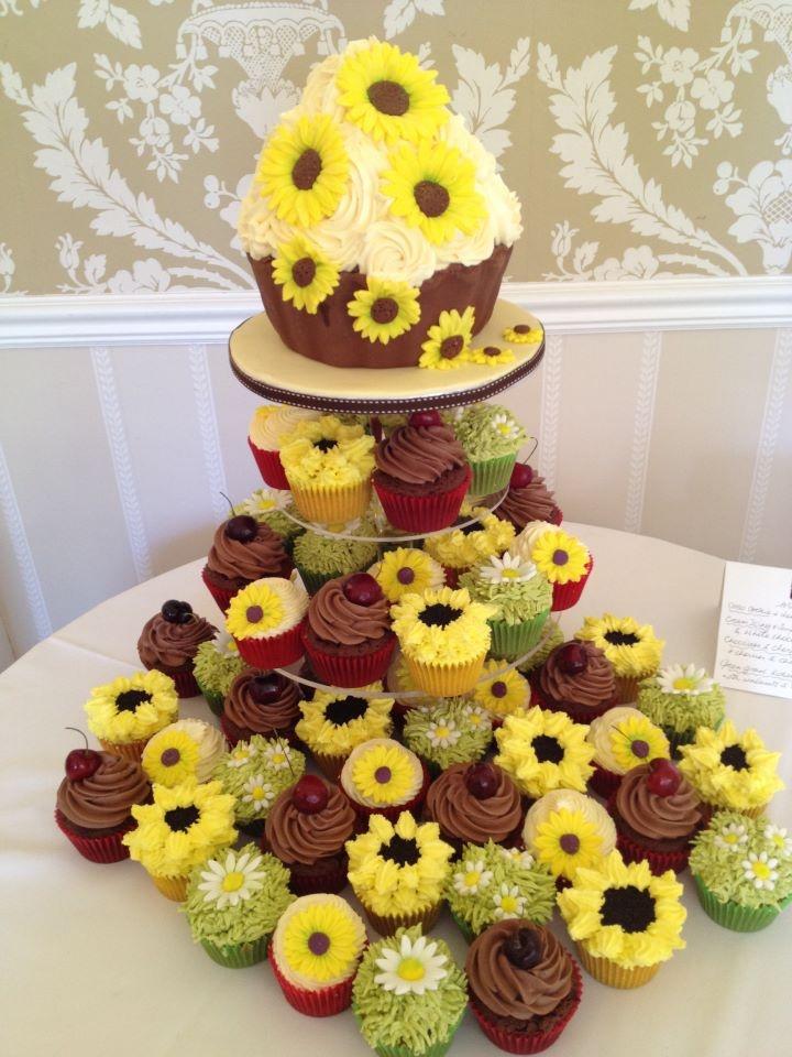 Sunflower Themed Wedding Cakes - Flowers Healthy