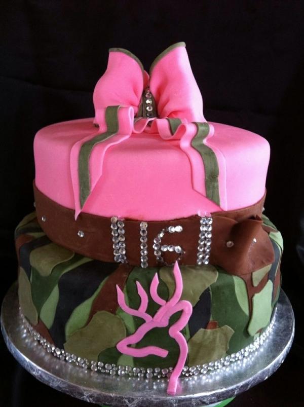 12 Sweet 16 Camo Cakes For Girls Photo Sweet 16 Camo Birthday