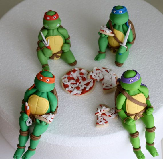 13 Fondant Ninja Turtle Cupcakes Photo Ninja Turtle Cake Teenage