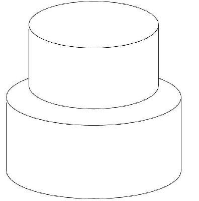 2 Tier Cake Template