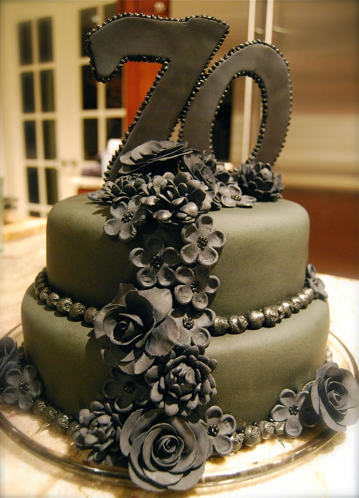 70th Birthday Party Cake Ideas