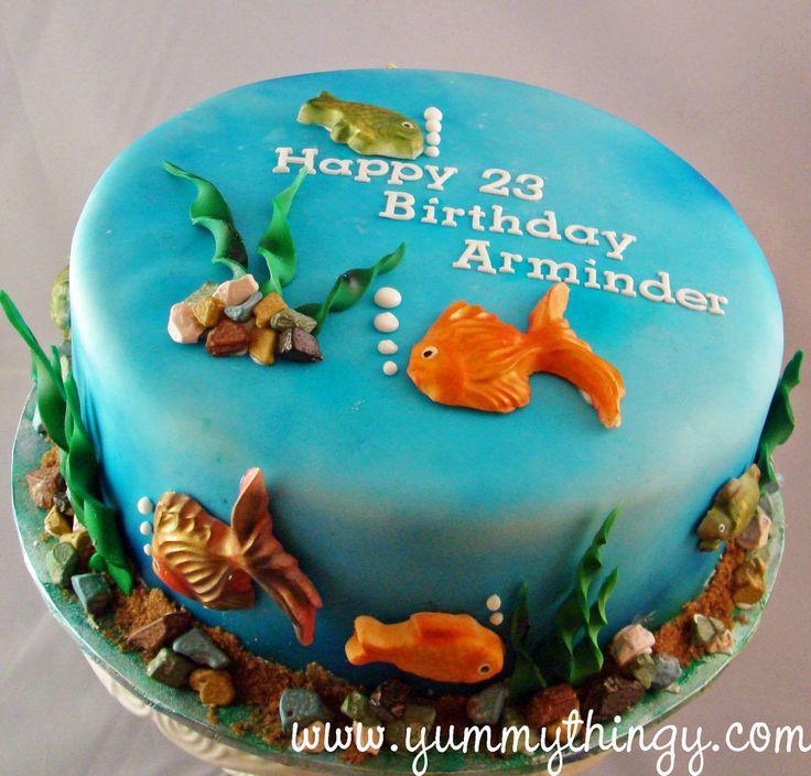 Sensational 9 Tropical Fish Birthday Cakes Photo Aquarium Themed Birthday Funny Birthday Cards Online Necthendildamsfinfo